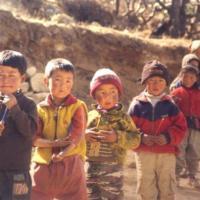Sherpa children at a school in Nepal.